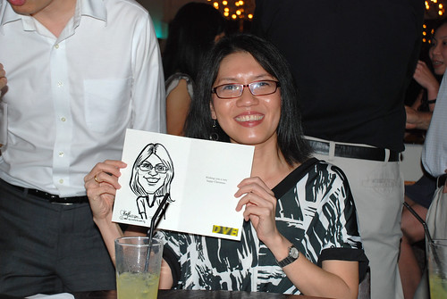 caricature live sketching for DVB Christmas party - 14