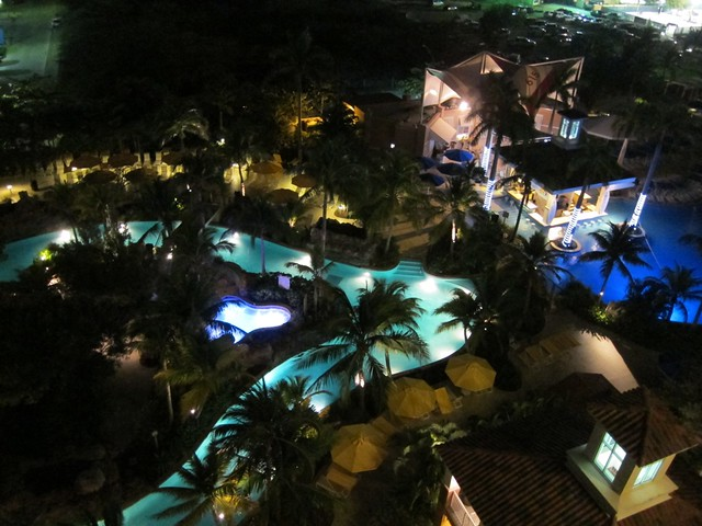Marriott Aruba Surf Club Pool at Night 2012