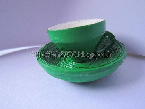 Handmade Paper Cup Saucer (2) by fah2305