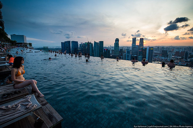 Swimming Pool Marina Bay Sands Flickr Photo Sharing