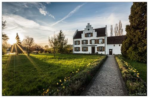 light sunset sky sun architecture clouds schweiz switzerland sonnenuntergang sony wolken sigma architektur sonne kloster a77 abendsonne steinamrhein thurgau eschenz inselwerd sonya77 mygearandme