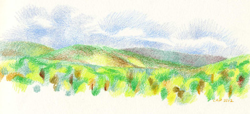 4/29/2012 outdoor sketching (Poet's Seat Panorama)