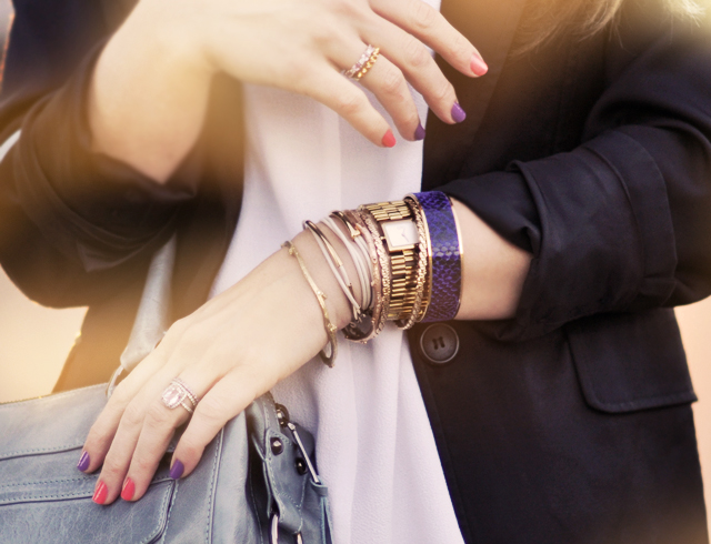 gold bracelets-watch- rings-jewelry-nails