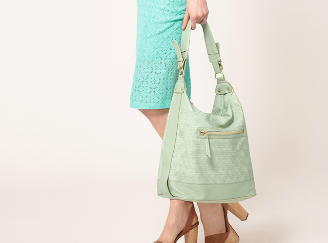 mint green bucket bag