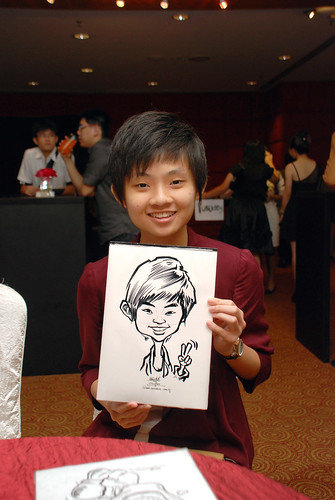 Caricature live sketching for Serangoon Junior College Prom Night - 1