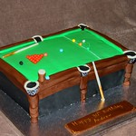 Snooker Table Cake Easy
