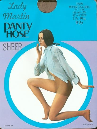 On Vintage Pantyhose Packages The 106