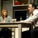 Jordan Lage and Donna Bullock in Huntington Theatre Company's Rabbit Hole at the Boston University Theatre. Part of the 2006-2007 season. Photo: Eric Antoniou.