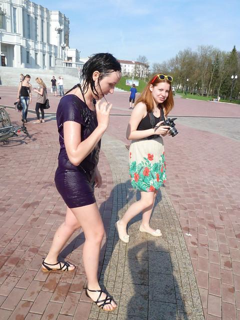 Минск Фонтан возле Оперного 2