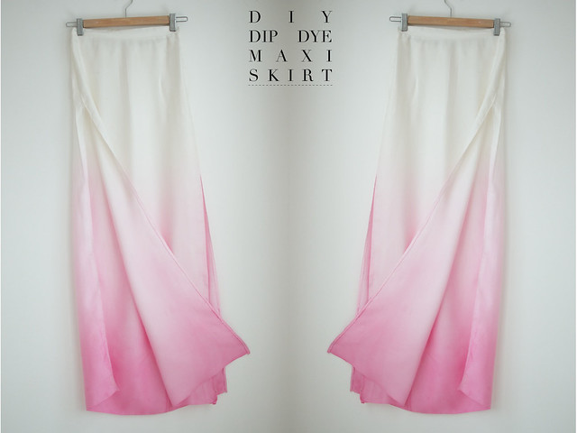 A PAIR AND A SPARE DIY DIP DYE SKIRT