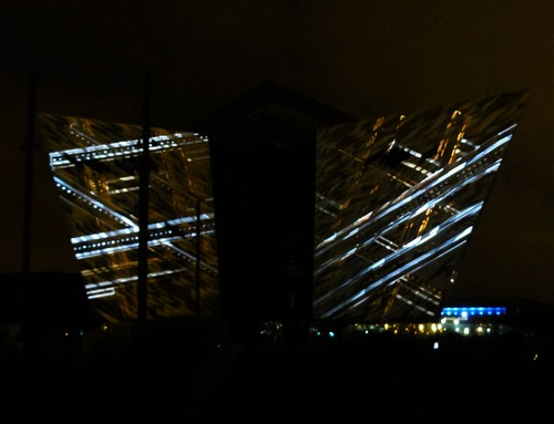 Titanic Belfast Light Show 02