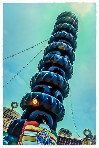 Luigi's Tire Tower Is Not A Designated Smoking Area by hbmike2000