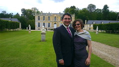 Us in front of the Château - Photo of Soignolles