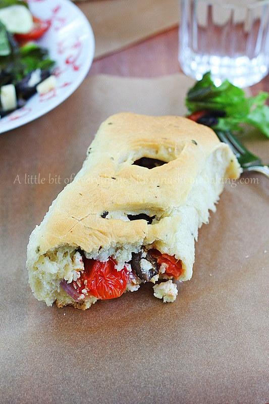 Greek Salad Rolls   roxanashomebaking.com/