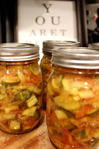 20120626. Canning report: 4 more jars of bread and butter pickles.