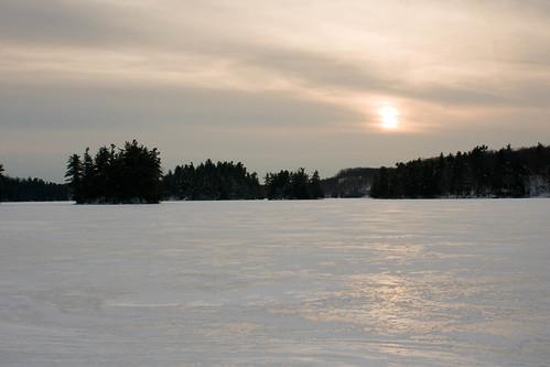 sunset skiing lowerrocklake