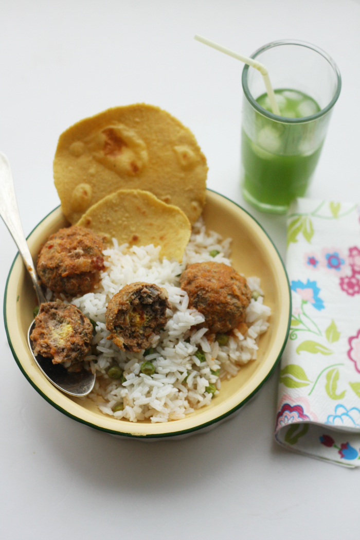 albondigas with rice