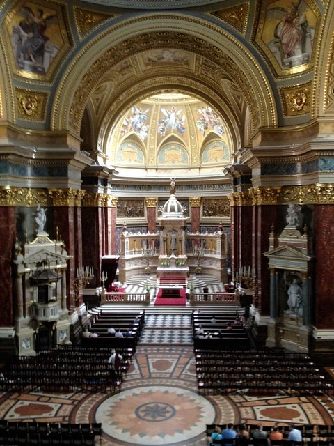 The interior of St. Stephen's Basilica