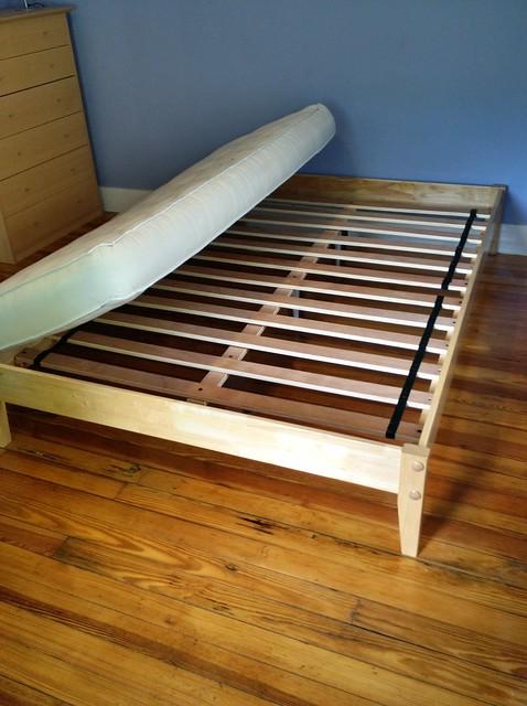 bed frame with futon mattress $150