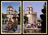 postcard & photo - Mission Santa Barbara Then & Now