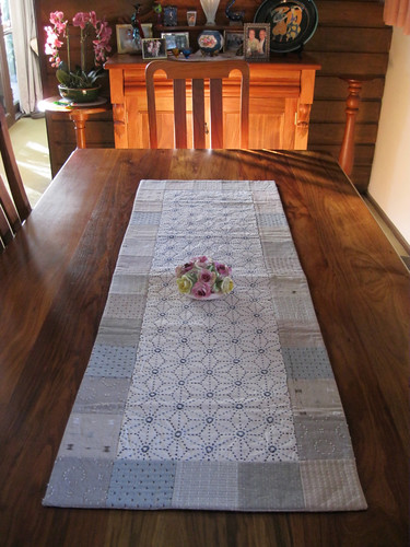 Sashiko table runner by Mum