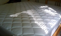 floor, bed frame, furniture, mattress pad, box-spring, bed, mattress,