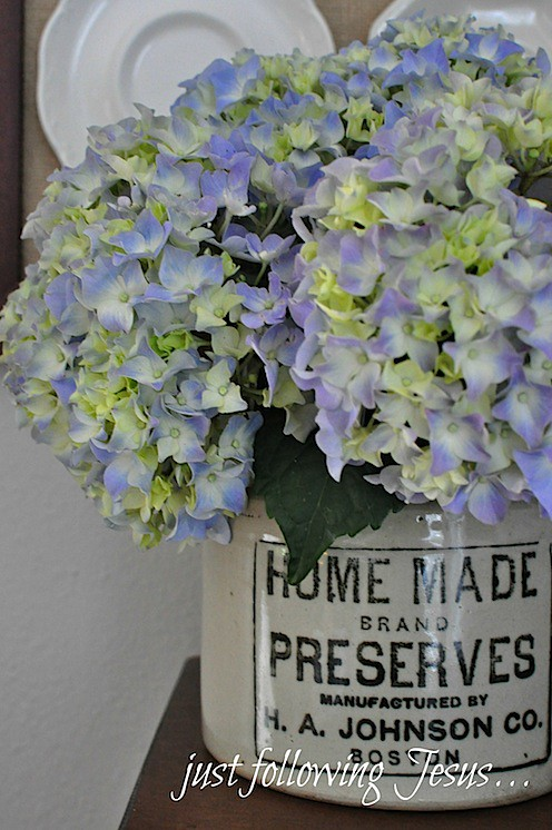 hydrangeas in old preserves crock.jpg