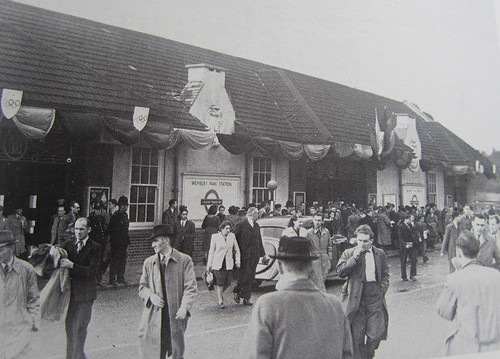 Wembley Park Station in 1948 - Last London Olympics
