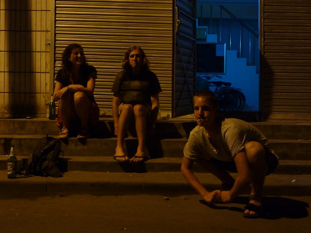 Martina, Nathan, Adrien a Xi'an (Shaanxi, Xina)