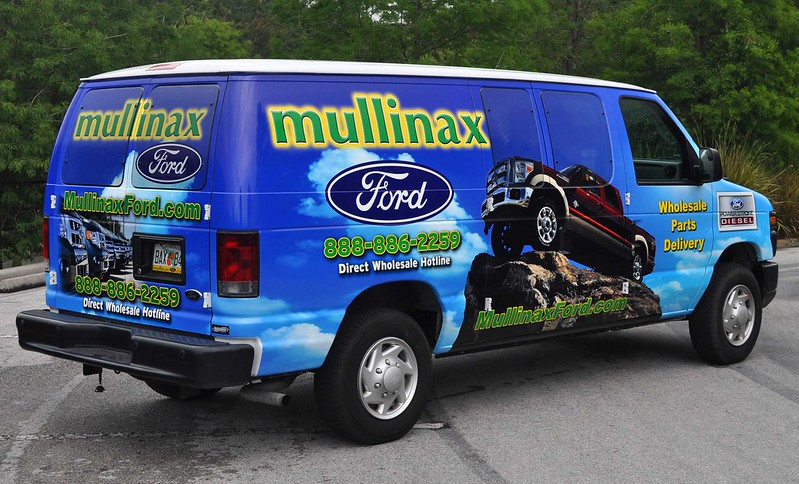 Ford cargo van wrap from TechnoSigns