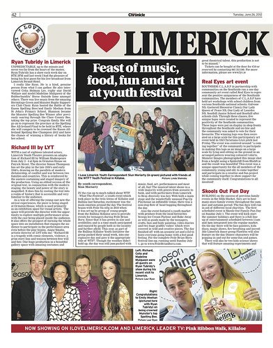 I Love Limerick Chronicle Column 26 June 2012 Page 1