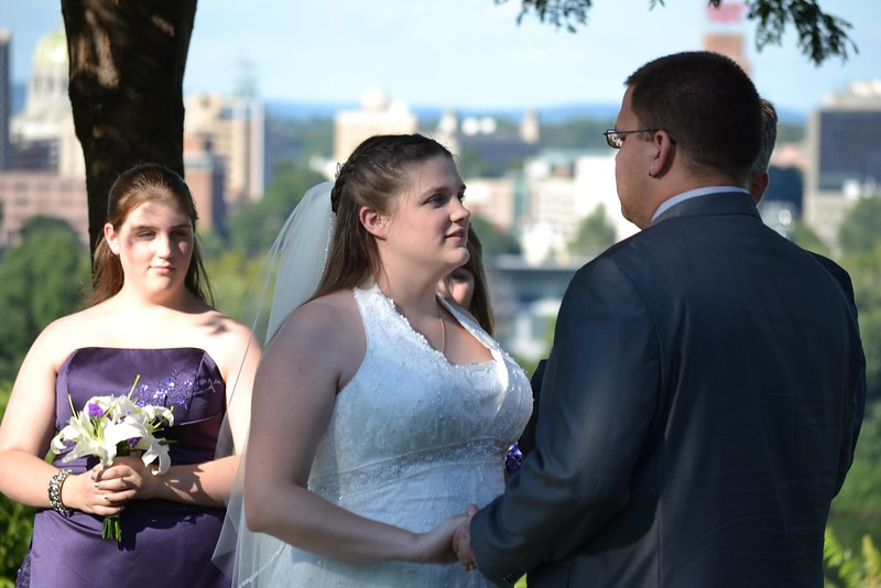 Jess saying her vows