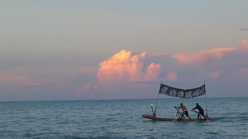 台東杉原海上的竹筏 拍攝者:賴品瑀