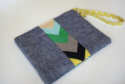 Chevron Pouch Reverse Side