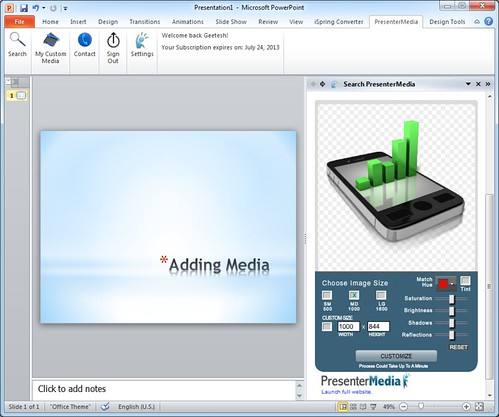 PresenterMedia PowerPoint Add-in