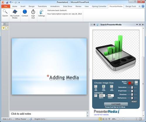 PresenterMedia PowerPoint Add-in