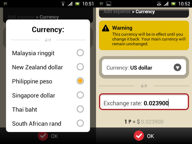 Using multiple currencies