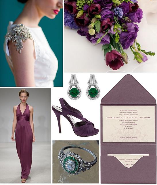 Autumn Wedding: Emerald & Amethyst