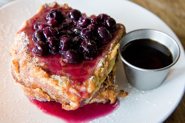 Blueberry French toast, Northeast Kingdom