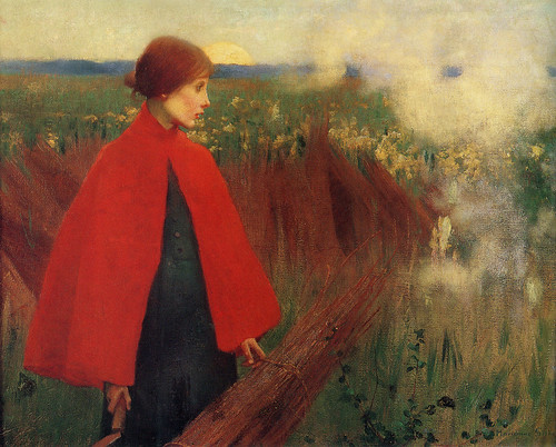 "Marianne Stokes (1855-1927), ""The passing train"", 1890 by sofi01"