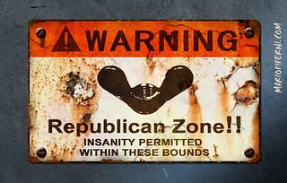 Warning - Republican Zone