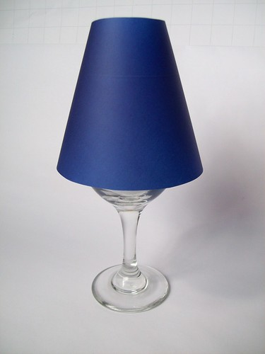 How to make a custom candlelight lamp from wine glass
