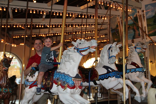 Olsen and Dadda on the carousel 1