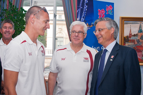 Latvian Olympic Athletes at Embassy