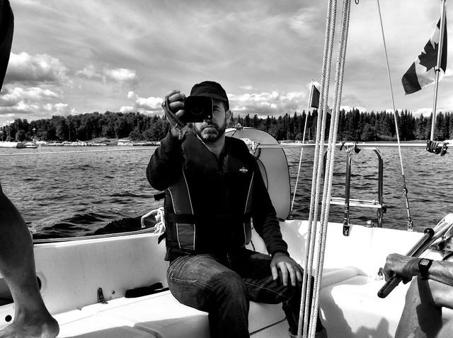 Aidan with a camera
