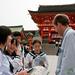 Dan with School Kids at Fushimi Inari Shrine - Kyoto, Japan