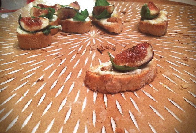 Fresh Fig & Mascarpone Bruschetta