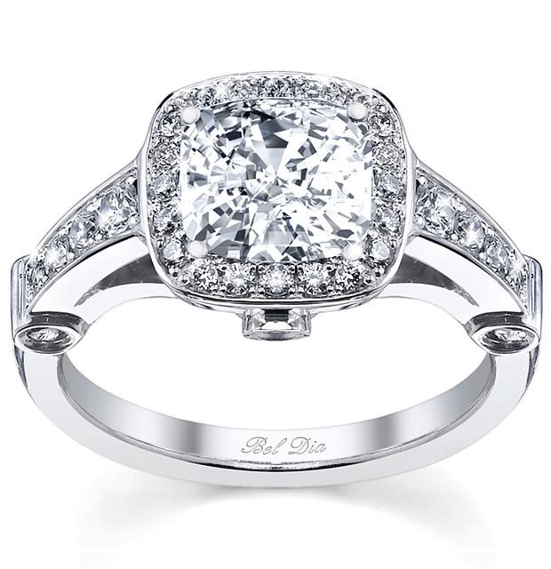 Diamond Halo Engagement Rings Square