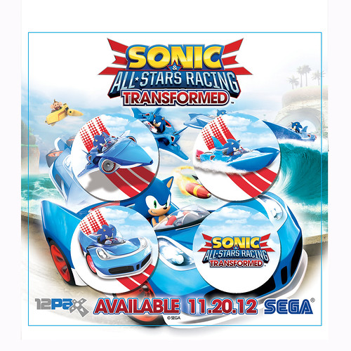 Sonic & All-Stars Racing Transformed buttons