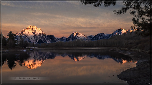 Sunrise at Oxbow Bend by Just Used Pixels
